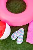 Różowy lato w basenie zdjęcia stock