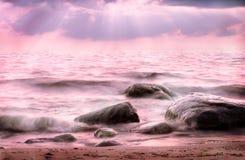 różowy morza obrazy stock