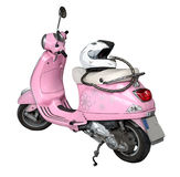 Różowy motocykl i hełm Fotografia Royalty Free