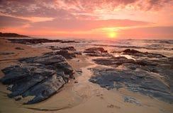 Różowy niebo wschód słońca Obrazy Stock