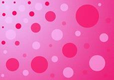 Różowy okręgu wzór kształtuje tło Zdjęcie Royalty Free