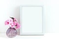 Różowy okwitnięcie projektująca akcyjna fotografia Obraz Royalty Free