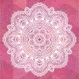 Różowy ozdobny koronkowy romantyczny rocznika tło Fotografia Stock