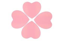 Różowy papierowy serce odizolowywający. Fotografia Royalty Free