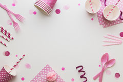 Różowy Partyjny tło zdjęcia stock