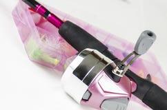 Różowy połowu słup Fotografia Royalty Free