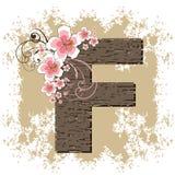 różowy poślubnika alfabet f Zdjęcia Royalty Free