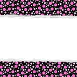 Różowy polki kropki tło dla twój zaproszenia lub wiadomości Obraz Royalty Free
