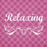 Różowy polki kropki tło z Relaksującym sentymentem Obrazy Royalty Free