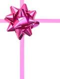 Różowy prezenta łęk Obraz Royalty Free