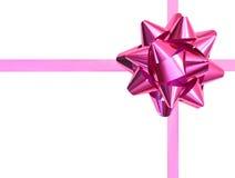 Różowy prezenta łęk Zdjęcia Stock