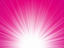 Różowy promienia tło Zdjęcia Royalty Free