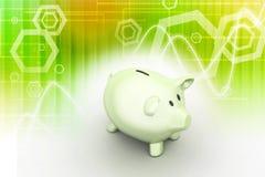 Różowy prosiątko bank, inwestorski pojęcie Zdjęcie Stock