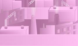 Różowy Przemysłowy Wektorowy projekt ilustracji