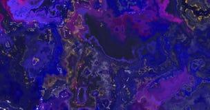 Różowy purpurowy błękita marmuru fractal wzoru tło Fotografia Royalty Free