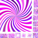 Różowy purpury spirali tła set Obraz Royalty Free
