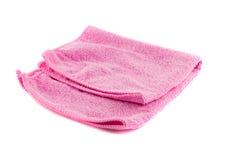 Różowy ręcznik składający w formie kwadrata Obraz Royalty Free