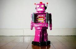 Różowy robot Obrazy Stock