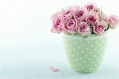 Różowy romantyczny bukiet róże Obrazy Stock