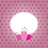 Różowy romantyczny tło & rama Obraz Stock
