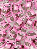 Różowy round samochodowy tło Obrazy Stock