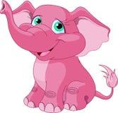 Różowy słoń royalty ilustracja