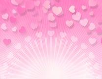 różowy słodyczy serc ilustracja wektor