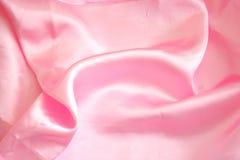 różowy satin tkaniny Obrazy Royalty Free