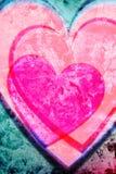 Różowy serca tło Obrazy Stock