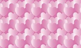 Różowy serca tło bezszwowy wzoru Obrazy Royalty Free