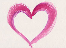 różowy serca valentine Fotografia Royalty Free