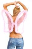 różowy skrzydła kobiety Zdjęcia Stock
