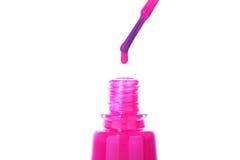 Różowy splendoru gwoździa połysk dla każdy nadaremnej kobiety Fotografia Stock