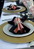 Różowy stołowy ustawianie zdjęcia stock