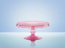 Różowy szkło torta stojak ilustracja wektor