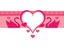 różowy tła łabędź Obrazy Stock