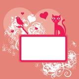 różowy tła valentine Zdjęcia Royalty Free