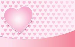 różowy tła valentine Obraz Royalty Free