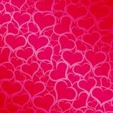 różowy tło serc Zdjęcia Royalty Free