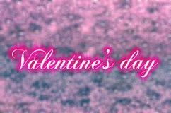 Różowy tło, valentines dzień, abecadło Obrazy Royalty Free