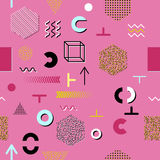 Różowy tło z graficznymi elementami Obrazy Stock