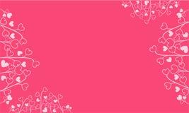 Różowy tło z miłość motywów tłem royalty ilustracja