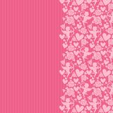 Różowy tło z sercami i cupidon Zdjęcie Royalty Free