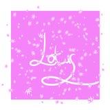 Różowy tło z stylizacyjnym kwiatu lotosem ilustracji