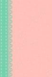 Różowy tło z zieleni koronką Obrazy Royalty Free