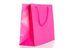 Różowy torba na zakupy Obraz Royalty Free