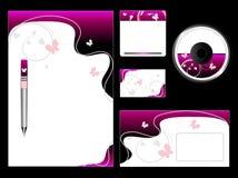różowy ustalony materiały Fotografia Stock