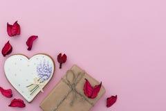 Różowy walentynka dnia tło Fotografia Royalty Free