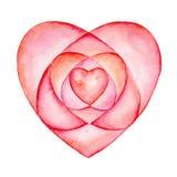 różowy walentynki serca ilustracji