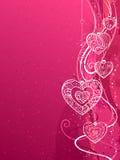 Różowy walentynki tło royalty ilustracja